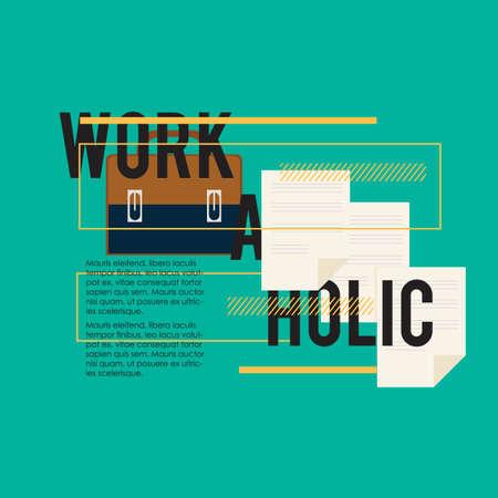 workaholic: workaholic quote Illustration