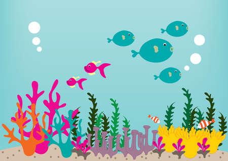 polyp: underwater coral reef