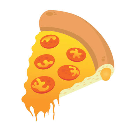 pepperoni pizza: pepperoni pizza slice Illustration