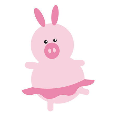 animal tutu: pig cartoon ballerina