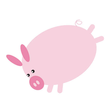 hind: pig cartoon kicking with hind legs