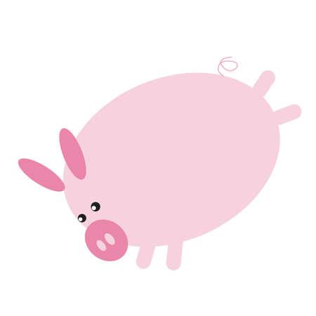 kicking: pig cartoon kicking with hind legs