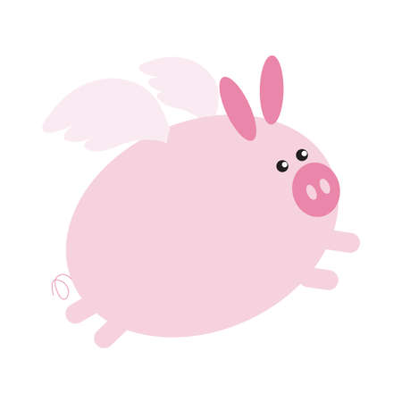 pig with wings: pig cartoon with wings