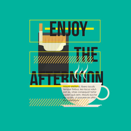 enjoy: enjoy the afternoon quote Illustration