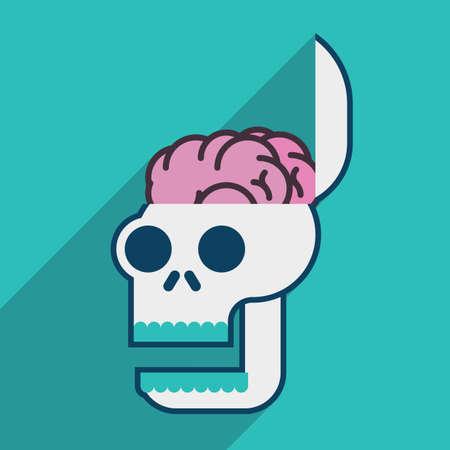 minded: open minded skull