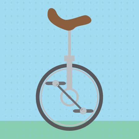 unicycle: circus unicycle Illustration