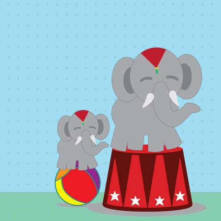 elephant circus Illusztráció