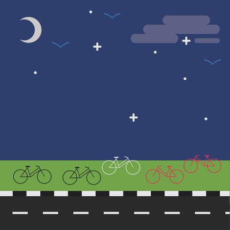 cycles: Vista nocturna de la ciudad
