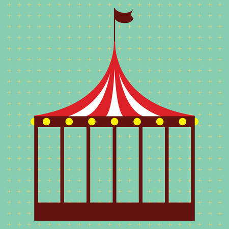 cage: circus cage Illustration