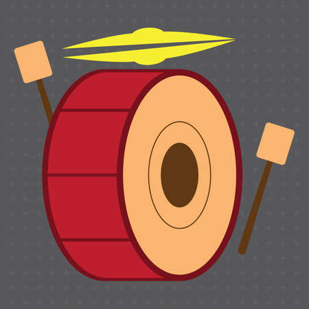 cymbal: drum and cymbal Illustration