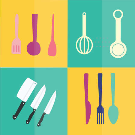 measuring spoon: kitchen utensils Illustration