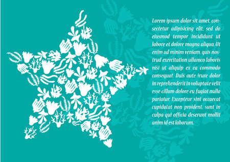 polyp: marine life poster Illustration