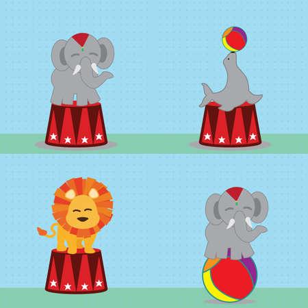 animal circus Illusztráció