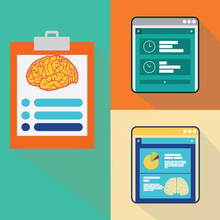 representations: brain analysis Illustration