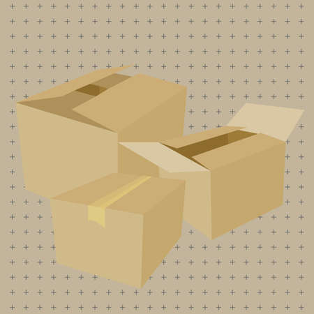 cardboard boxes: cardboard boxes Illustration