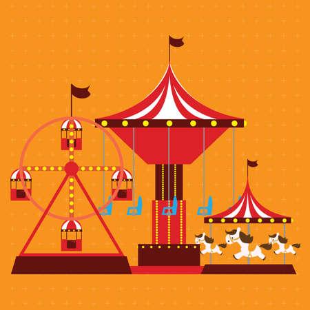 rides: circus rides Illustration