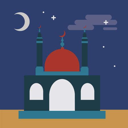 night: night view of mosque