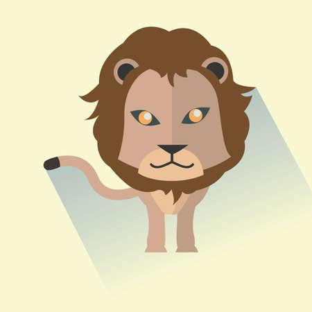 manes: lion Illustration