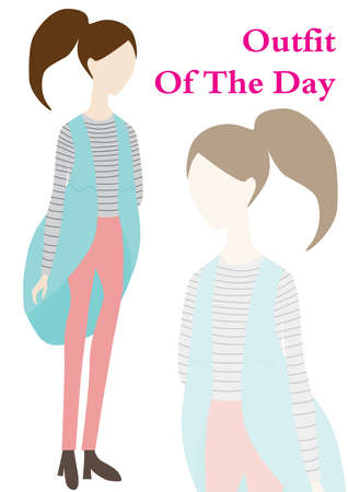 outfit: outfit of the day Illustration