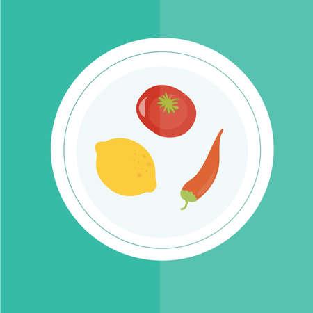 ingredients: plate of ingredients