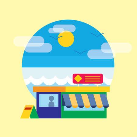 stall: shopping stall