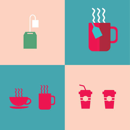 hot: hot drinks Illustration
