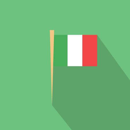 toothpick: italian flag toothpick