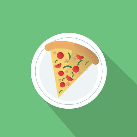 slice: pizza slice on the plate