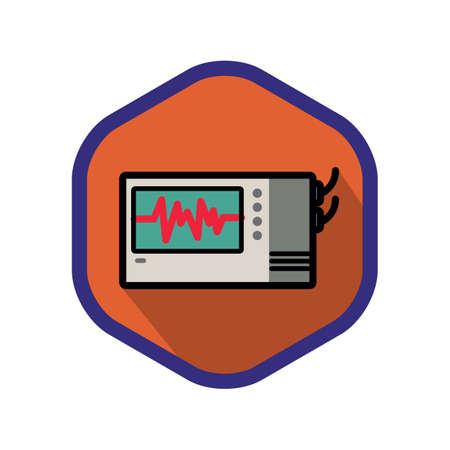 electrocardiograma: electrocardiógrafo Vectores