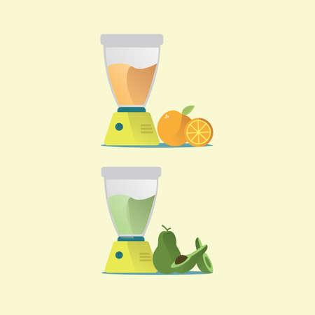blended: fruit juices