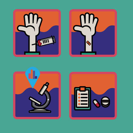blood test: blood test equipment Illustration