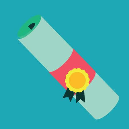 batch: certificate with batch ribbon Illustration