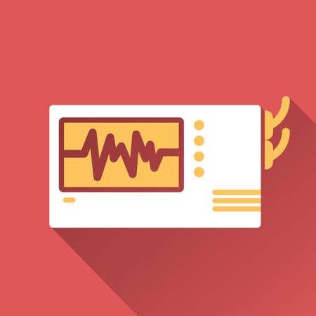 electrocardiograma: electrocardi�grafo Vectores