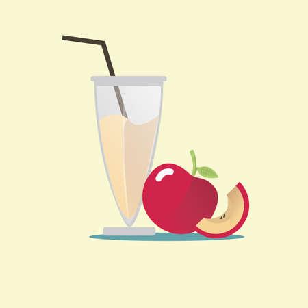 apple juice: apple juice Illustration