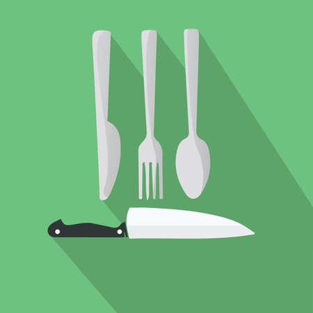 utensils: kitchen utensils Illustration