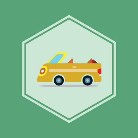 top: open top car Illustration
