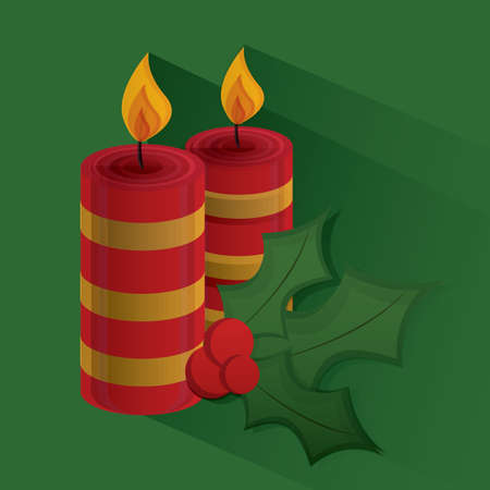 mas: candles with holly berry