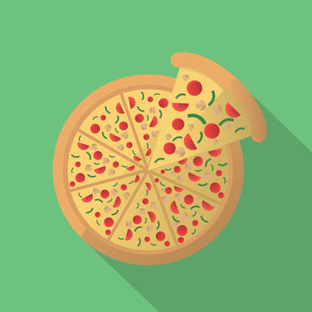 cut off: pizza with the cut off slice