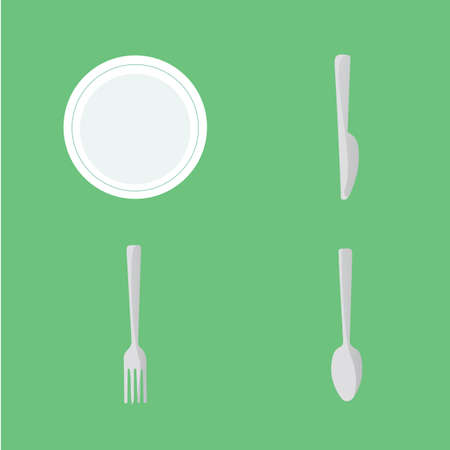 plate: utensils with plate