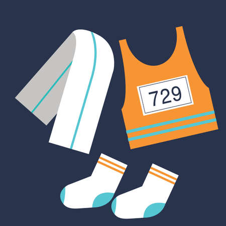 sports jersey: sports icons Illustration