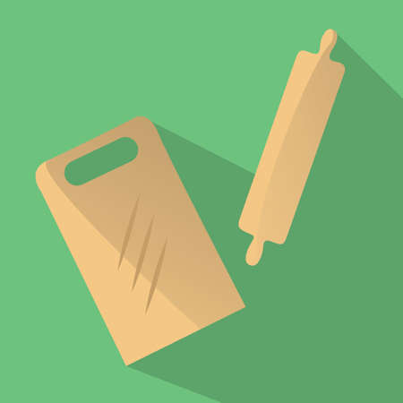 pin board: cutting board and rolling pin Illustration