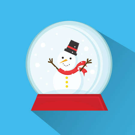 christmas snow globe: christmas  snow globe Illustration
