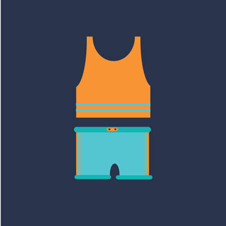 jersey: running jersey and shorts Illustration
