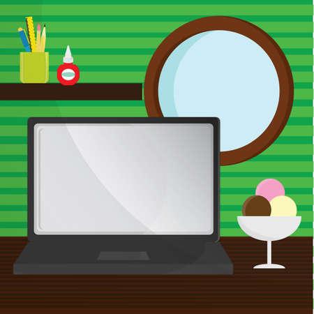 workstation: workstation table Illustration