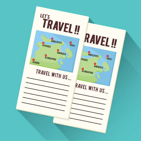 getaways: travel brochures Illustration