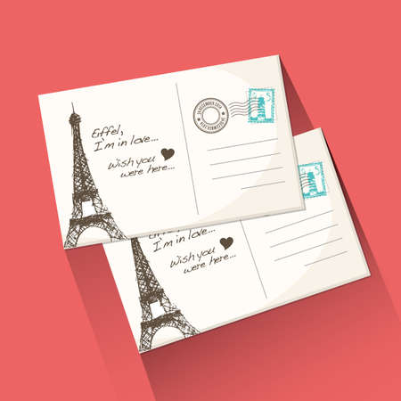 postcard: travel postcard
