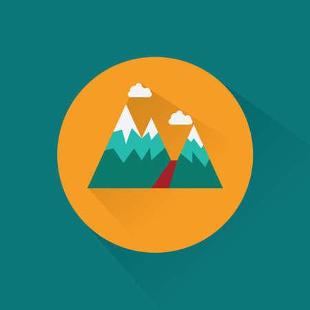 snow cap: mountain landscape Illustration