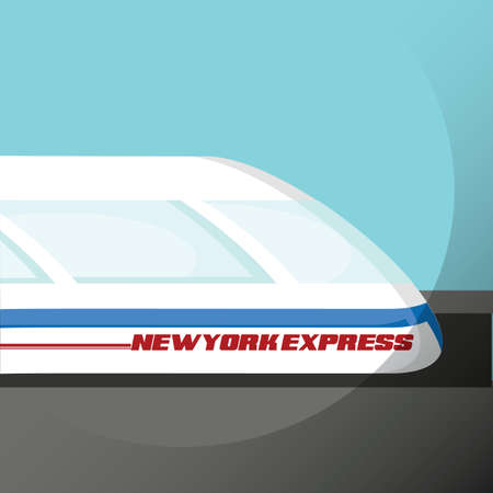 getaways: new york express train Illustration