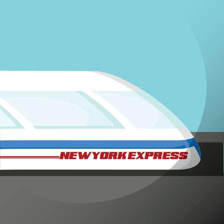 treno espresso: New York treno espresso Vettoriali