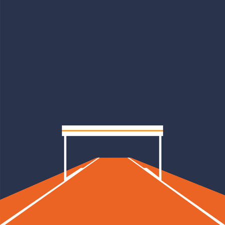 hurdle: hurdle on running track